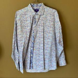 Paisly button-down shirt - XXL $25